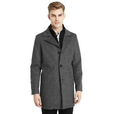 Kenneth Cole Tweed Coat with Ribbed Bib