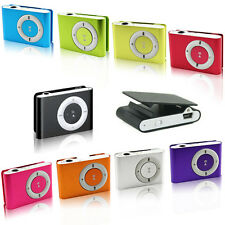 hot Stylish Full Metal Jacket MP3 Player Metal Mini Clip Supports Micro SD Card