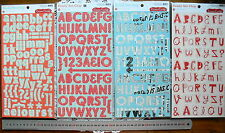 Letters CHIPBOARD 4 Colours & Designs Thicker Stickers 2-3cm high MultiList