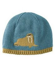 NWT NWT 12-24 gymboree ARCTIC ADVENTURE walrus blue COTTON HAT CAP BEANIE~U-PIC