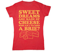 Sweet Dreams Made of Cheese Brie Food Pun Chef Novelty Gift Funny - Womens Top