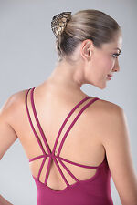 NEW! WOMENS DANCE BALLET CAMI LEOTARD WITH DOUBLE BACK STRAPS. 2 COLORS! (D254)