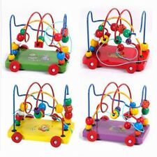 Toys Baby Kids Intelligence Development Wooden Early Education Beads Animal New