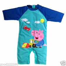 NWT Peppa Pig Boys One Piece Uv Sun Protect Swimsuits Swim Bottoms Tops 2-8Y #GK
