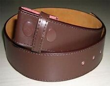 """#4333 - BROWN 1.5"""" WIDE STITCHED LEATHER WITH SNAP CLOSURES FOR BELT BUCKLES"""