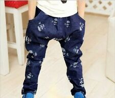 Cool boys elasticated waist jeans with skull heads all over 2,3,4,5,6,7 years!!!
