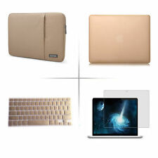 Gold keyboard cover screen protector hard case for Macbook Pro Air 11 13 15""