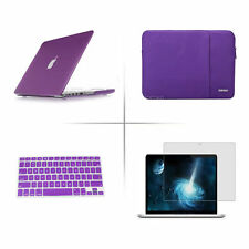 Purple Sleeve bag hard case keyboard cover Screen protector For Apple macbook