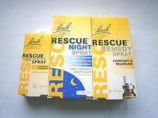 BACH RESCUE REMEDY SPRAYS (NIGHT/DAY)- VARIOUS CHOICES USE DROP DOWN MENU