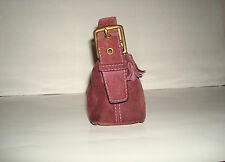 Vintage COACH Brown Baguette/Shoulderbag Soft Suede Trimmed with Leather Cute!