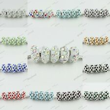 Hot Sale European Charm Spacer Crystal Resin Beads Findings For Bracelets 6x12MM