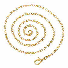 "Gold Plated Trace Chain Necklaces with Lobster Clasp 16"" 18"" 20"" 24"" 26"" 30"""