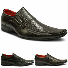 Mens New Leather Lined Slip On Wedding Party Italian Formal Shoes Size UK 6-12
