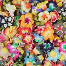 Wholesale! 50/100/200pcs 15mm Mixed Polymer Fimo Clay Flower Spacer Loose Beads