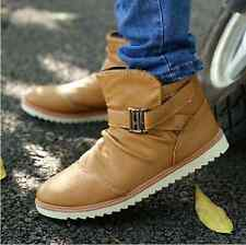 New Fashion Men's Casual Thicken Simple Warm Winter Shoes Ankle Boots PC158