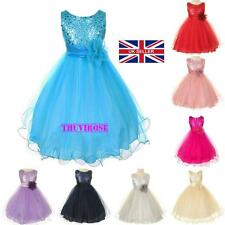 Girls Party/Flower/Formal/Wedding/Princess/Prom/Bridesmaid/Christening Dress