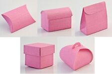 Luxury DIY Wedding Party Favour Gift Sweet Boxes - BRIGHT PINK SILK Range