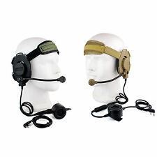 Z Tactical Bowman Elite II Headset Earpiece PTT For Kenwood 2Pin Walkie Talkie