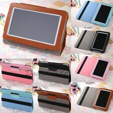 "For Universal 7"" 7.85"" 8"" 9"" 9.7"" 10.1"" Android Tablet Leather Case Stand Cover"