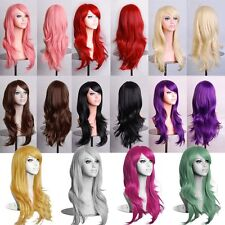 Women Lady Long Hair Wig Curly Wavy Synthetic Anime Cosplay Party Full Wigs 70cm