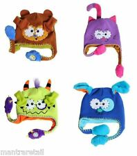 Playful Like Flipeez Squeeze Peek-a-Boo Monkey Action Woolen Hat Unisex Kids