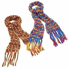 New Ladies Multi Color Knitted Tassel Scarfs Long Winter Fashion Shawls