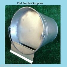 NEW CHICKEN POULTRY DUCK GALVANISED WATER BUCKET 0.8/1.25/1.6 GALLON
