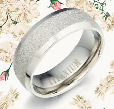 His Or Her Matching Anniversary Titanium Rings MKUS092  8mm Sz6-15.5 Z8