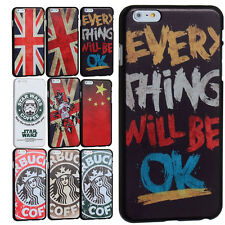 """Printed Creative 20 Patterns Thin Black Hard Cover Case for iPhone 6 Plus 5.5"""""""