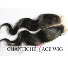 Middle Part Brazilian Body Wave Closure 100 Virgin Human Hair Lace Closure 3.5x4