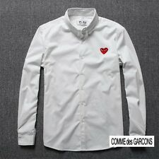 Free ship Comme des Garcons CDG  PLAY white color red heart long sleeve T-shirt