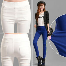 Winter Women's High Waist Slim Trousers Stretch Skinny Leggings Pencil Pants