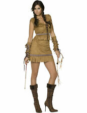 Adult Fever Pocahontas Red Indian Costume Sexy Squaw Fancy Dress Outfit