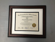 """WOW"" 3 DIPLOMA FRAMES FOR UNDER $100.00 1 1/2"" Walnut  w/2 Mats"