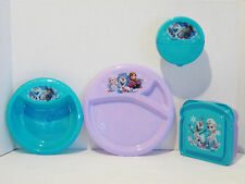 Disney Frozen Lunchbox Sandwich Snack Container Lid Plate Bowl Anna Elsa Olaf