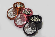 "2.2"" Authentic SharpStone® Clear top 4 Piece Aluminum Herb Grinder Crusher"