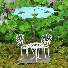 Mini Bistro Set ~ Fairy Garden ~ Miniature Wire Table & Chairs ~