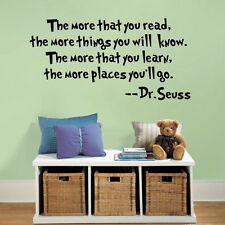 DIY  Wall Quotes Study Room Decors Dr. Seuss Famous saying Vinyl Wall Stickers