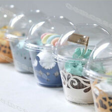 CLEAR Plastic To Go Containers Cookie, Muffin, Cupcake Liner  #C001
