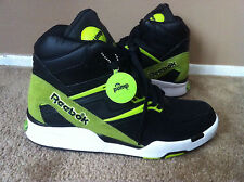 New REEBOK Pump Twilight Zone Shoes Mens black/green size 10.5