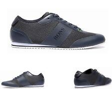 MENS HUGO BOSS GREEN LIGHT AIR NAVY TRAINERS UK 6 - 12