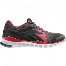 New Girls Ladies Womens Reebok Realflex Advance Running Trainers Shoes Grey Pink