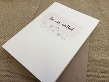 Vintage/Rustic/DIY  'Floral' Wedding Cards & Envelopes (Blank inside)