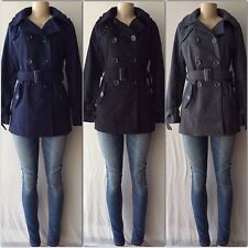 Double Breasted Military Trench Coat /Peacoat with Removable Belt Fully Lined