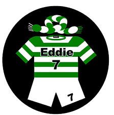 FOOTBALL COASTERS - FUN PERSONALISED SET OF COASTERS - NAME & NUMBER - GIFT
