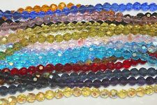Glass Beads - 8 mm- Round Faceted -32 Facets- Five (5) Strands (About 250 Beads)
