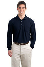 Port Authority Tall Silk Touch Long Sleeve Polo with Pocket. TLK500LSP Mens