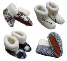 COZY FOOT - Women's  100% Pure Sheep Wool / Sheepskin Slipper Boots