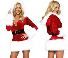 High Quality Womans Fancy Miss Santa Costume Dress Sexy Outfit Christmas 8 10 12