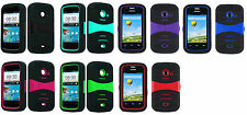 U - Kickstand Hybrid Case Phone Cover Accessory for Net10 ZTE Z667G Whirl 2 II